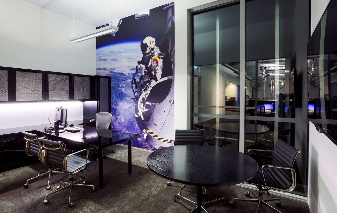 red bull consolidated offices. Red Bull Consolidated Several Offices In Auckland Into A New, Three-level Headquarter Facility. U